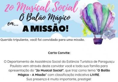 Assistência realiza o 2° Musical Social hoje, na ACEPP