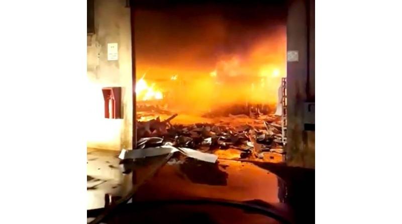 Incêndio atinge barracão de concessionária de energia em Assis