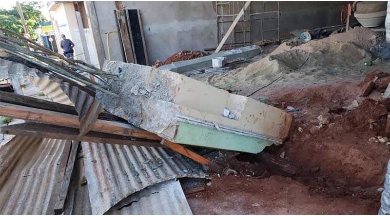 Pedreiro fica gravemente ferido após estrutura de concreto cair em Tupã