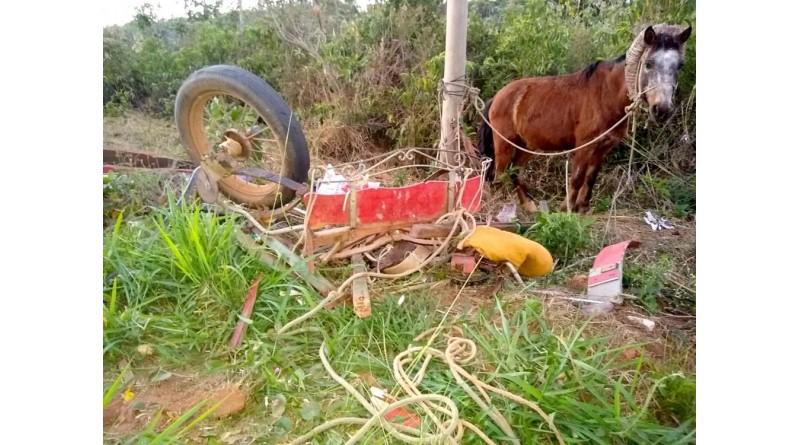 Homem em charrete morre após acidente com caminhonete em vicinal de Bastos