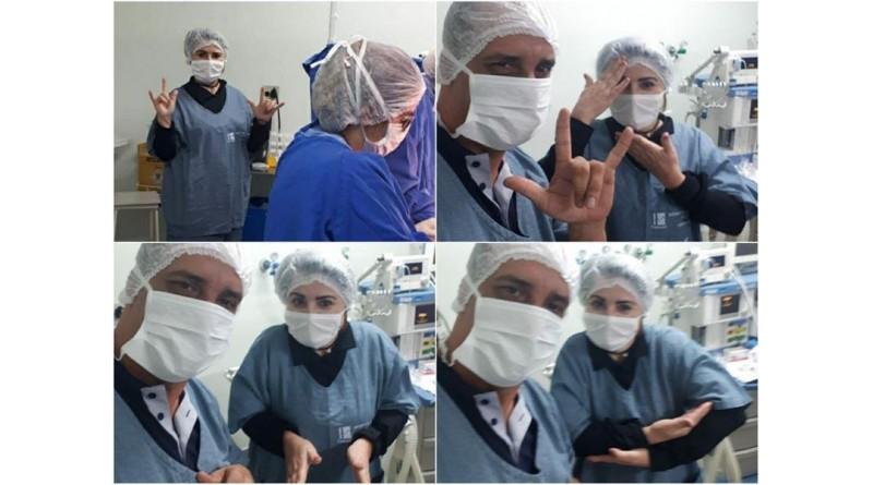 Intérprete de Libras traduz parto para pais surdos e emociona equipe médica em Marília