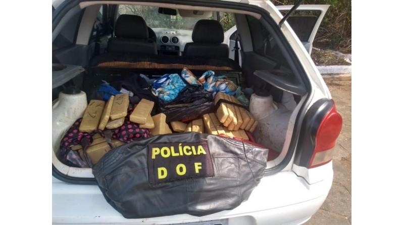 Quatro moradores de Assis são presos com 42 quilos de maconha no MS