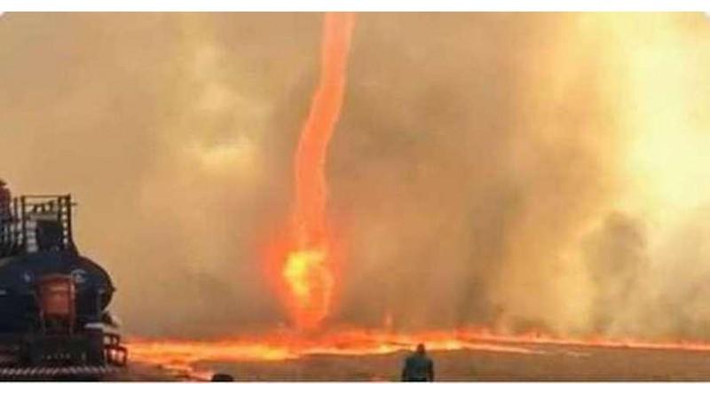 Vídeo: Redemoinho de fogo formado durante queimada intriga cidade em Goiás