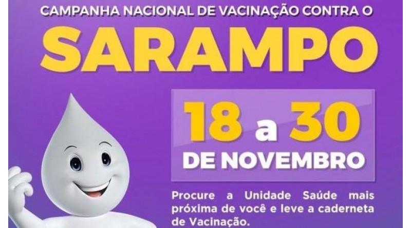Começa a segunda fase da vacinação contra o sarampo em Paraguaçu