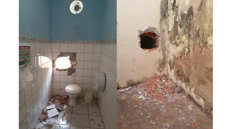 Criminosos fazem buraco em banheiro de loja de departamentos e furtam mais de R$ 100 mil
