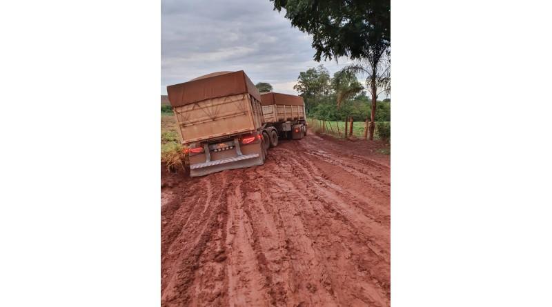 Estradas rurais de Platina são prejudicadas com as chuvas da semana passada