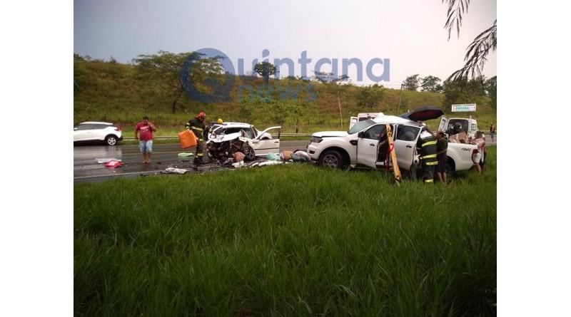 Acidente gravíssimo na serra de Quintana deixa dois mortos e quatro feridos