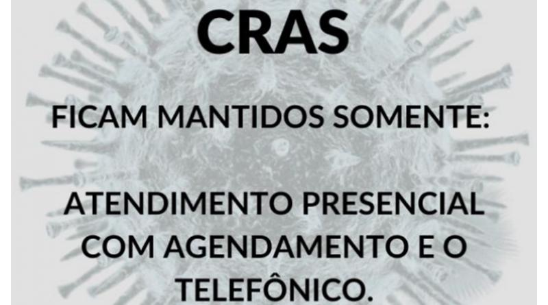 CRAS E CREAS de Paraguaçu farão atendimento presencial com agendamento e o telefônico