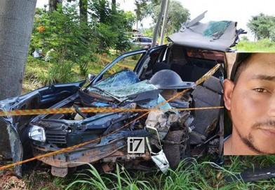 Homem morre após colidir carro contra árvores na rodovia Paraguaçu/Campinho
