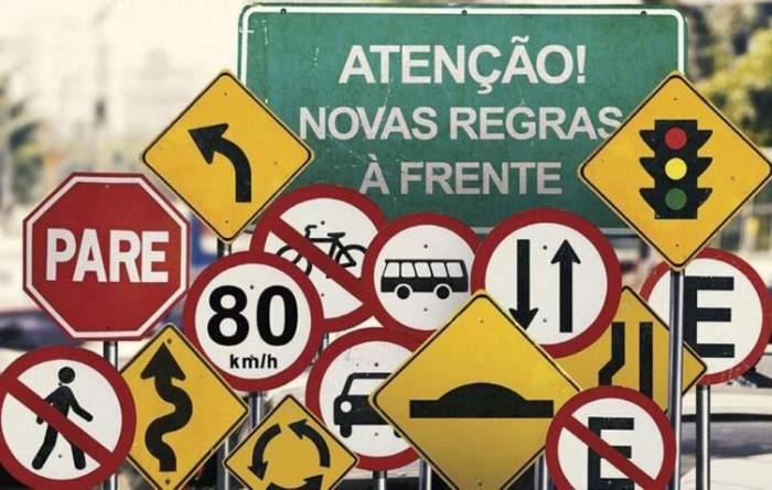 Novas regras de trânsito começam a valer no dia 12