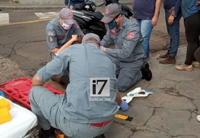 Motociclista fica ferida após acidente com outra moto em Paraguaçu Paulista