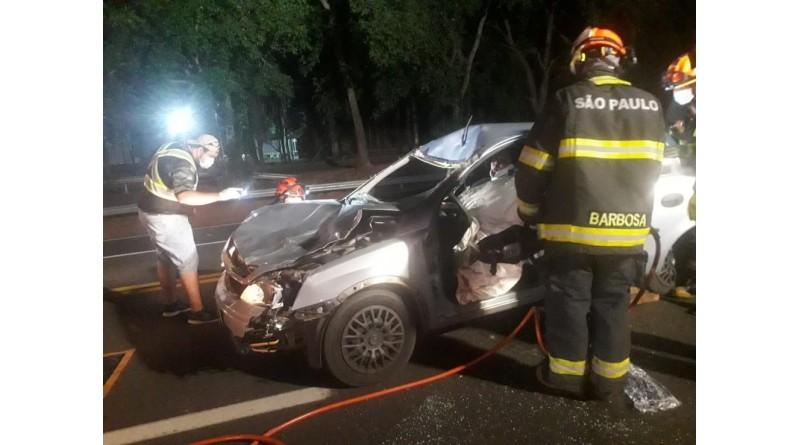 Motorista fica ferida após atropelar e cavalo solto em rodovia de Tupã; animal morreu
