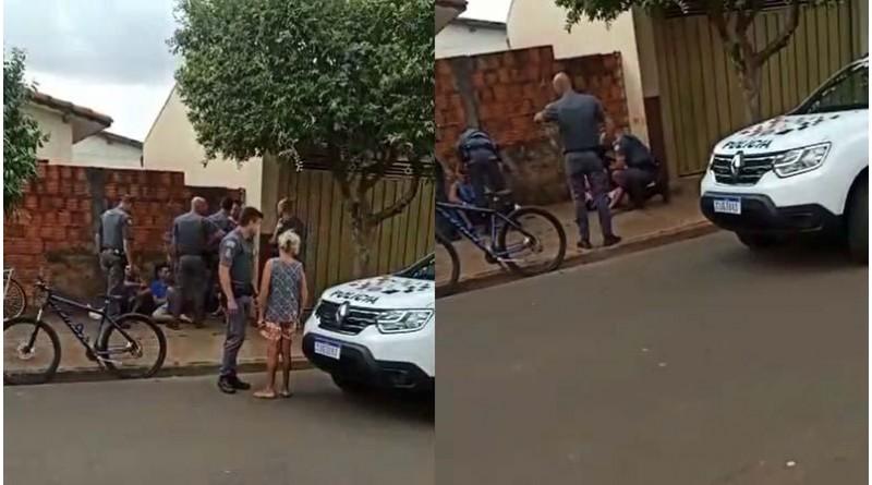 PM agride suspeito com tapa na cara durante abordagem policial em Paraguaçu Paulista