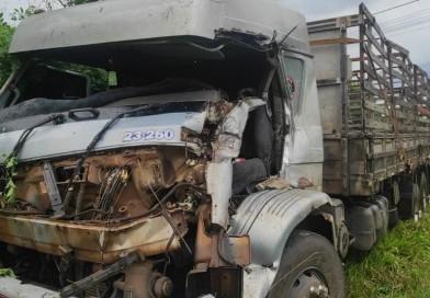 Acidente entre caminhões deixa homem ferido em Quatá