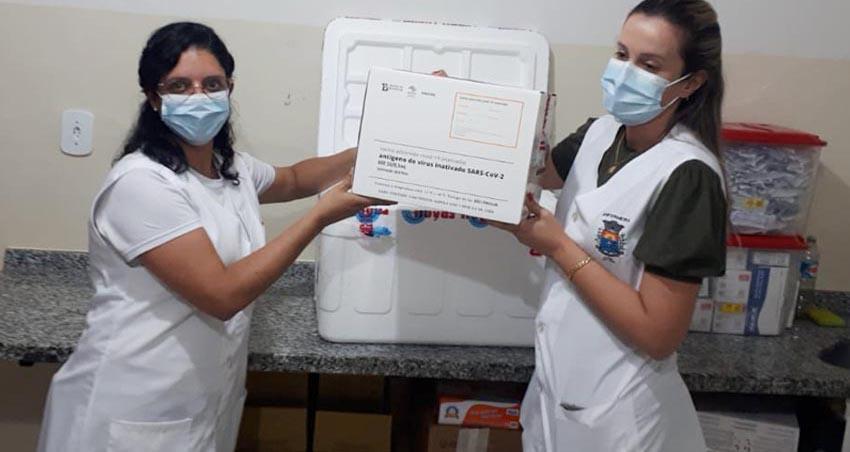 Paraguaçu Paulista recebe primeiras doses da CoronaVac